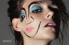 """""""Someone Else"""" Beauty story photographed by Anairam for ELLE Mexico"""