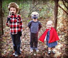 Little Red Riding Hood (Marlee) + Big Bad Wolf (baby) + Woodsman (Mason) = family costumes after the next baby
