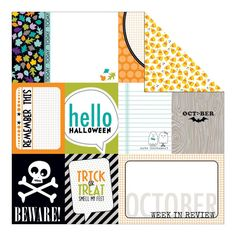 Daily Details 12x12 Double Sided Paper Bella Blvd Trick or Treat #halloween