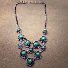 Green Howlite Necklace