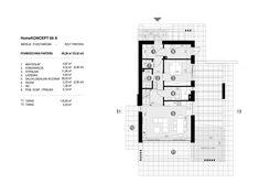 DOM.PL™ - Projekt domu CPT HomeKoncept-66 A CE - DOM CP4-93 - gotowy koszt budowy Cabin Design, House Design, Modern Bungalow House, 100 M2, Cottage House Plans, Japanese House, Beach Cottages, Architecture Design, Floor Plans
