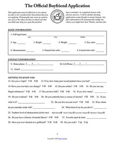Boyfriend Application-Too funny. Reminds me of Shiela's attempt to get someone's attention. (over 20 years ago)