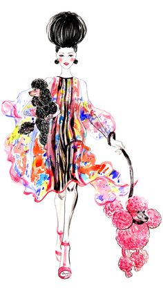 Poodles, outfit inspired by Elie Saab Spring 2013 RTW