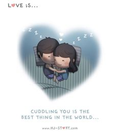 Check out the comic HJ-Story :: Cuddle Loved & pinned by www. Hj Story, Cute Love Images, Cute Love Stories, Love Story, Husband Love, Love Him, Mahal Kita, Cute Couple Cartoon, Cartoons Love
