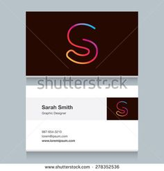 """Logo alphabet letter """"S"""", with business card template. Vector graphic design elements for your company logo."""