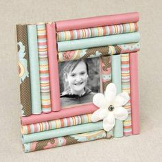 Frame made of rolled paper