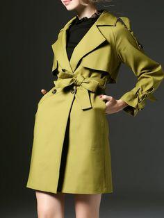 Fashion Paneled Trench coat