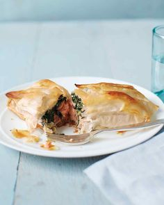 Phyllo Rolls with Spinach and Salmon | Salmon-and-Spinach Rolls | Everyday Food | Martha Stewart