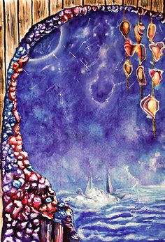 Stars - by Medea Ioseliani -  Hello and welcome to my Art World of colors and magic, I am an artist Medea Ioseliani and you are welcomed to visit my artist's workshop to get ideas for home decor or get some gift ideas and simply get inspired by art.  #decoridea #medeaart #fantasyart #artprint #colorful #walldecor #colorfulart #fineart #fineartprint #art  #artgallery #artwork #homedecor #decor #giftideas #gallery #artideas #painting #giftidea #artlover #arte