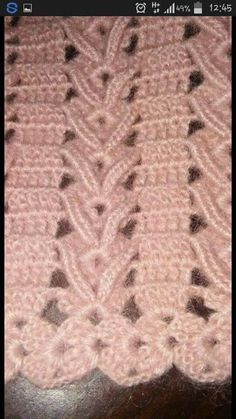 Stricken Baby :This Pin was discovered by Tül Crotchet Stitches, Crochet Stitches Patterns, Crochet Patterns For Beginners, Crochet Chart, Lace Patterns, Knitting For Beginners, Thread Crochet, Crochet Motif, Crochet Doilies