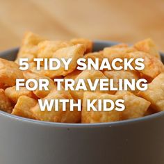 Children's Snacks to Pack for Traveling