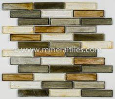Mineral Tiles - Stained Glass Mosaic Tile Olive 1x4, $23.95 (http://www.mineraltiles.com/stained-glass-mosaic-tile-olive-1x4/)