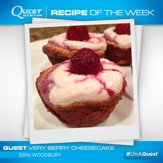 #Quest Very Berry Cheesecake from fan Erin Woodbury. Click for recipe! #OnaQuest #CheatClean