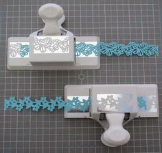 Making paper lace with punches - also has instructions for deep edge punches