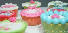 Cupcakes de chocolate blanco en el blog de www.hojadementa.com