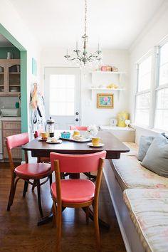 raya carlisle's kitchen nook via design*sponge