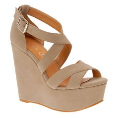 Wedges are perfect  They give you the height of a pump but they are comfy and easier to walk in :D