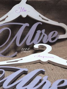 Umerase traforate si personalizate   @annecreeaza Clothes Hanger, Weddings, Coat Hanger, Clothes Hangers, Wedding, Marriage, Clothes Racks