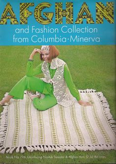 Vintage Columbia Minerva Afghan and Fashion by baldyhillvintage, $15.00