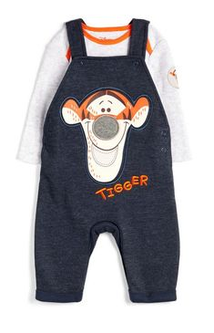 DISNEY STORE MICKEY /& DONALD CUTE 2 PC DUNGAREE SET FOR BABY NWT ~ VERY NICE!!