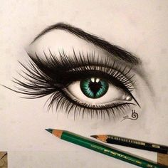 realistic drawing of a eye...amazing!