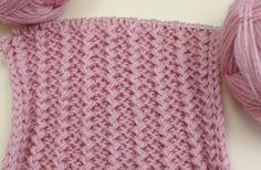 Вязание спицами для начинающих. Французская резинка /// Knitting for beg...
