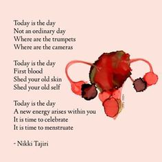She Dreams When She Bleeds: Poems About Periods by Nikki Tajiri Sacred Feminine, Divine Feminine, Period Story, Period Quotes, Period Party, Daily Mantra, Book Of Poems, Feminist Quotes, Empowerment Quotes