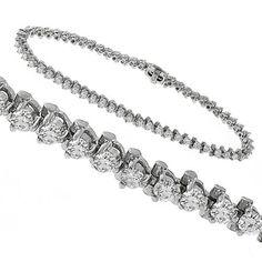 Estate_3.00ct_Round_Cut_Diamond_14k_White_Gold_Tennis_Bracelet | New York Estate Jewelry | Israel Rose