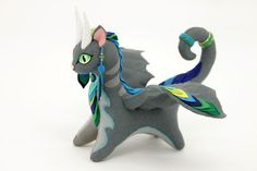 Dragon toy cat soft plush by OlgaShirobana