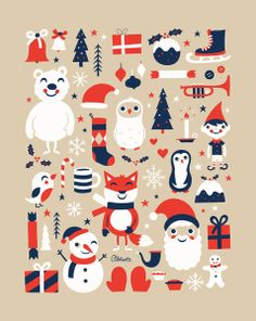 Merry Christmas Art Print by Greg Abbott | Society6