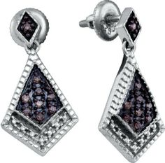 0.19CT Chocolate Brown/White Diamond 925 Sterling Silver Micro Pave Earrings Sea of Diamonds. $130.90. Metal Type: 925 White gold plated silver. GemStone: Chocolate Brown and White Diamond. Save 45%!