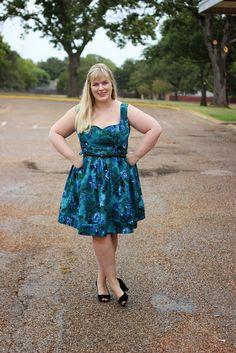 Idle Fancy: By Hand London Kim Dress in watercolor floral poly Simple Dress Pattern, Dress Patterns, Simple Dresses, Blue Dresses, Summer Dresses, By Hand London, Made By Mary, Perfect Party, Party Dress