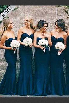 Outlet Light Navy Blue Party Dress, Blue Party Dress, Mermaid Bridesmaid Dresses Custom Made Morden Blue Party Dress Mermaid Sweetheart Navy Blue Stretch Satin Sweep Train Bridesmaid Dress Lavender Bridesmaid Dresses, Cheap Bridesmaid Dresses Online, Navy Blue Bridesmaid Dresses, Mermaid Bridesmaid Dresses, Mermaid Dresses, Dresses Dresses, Satin Dresses, Party Dresses, Light Blue Bridesmaids