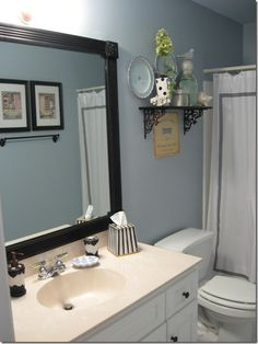 Frame bathroom mirrors-DIY