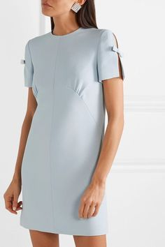 Find and compare Bow-embellished cady mini dress across the world's largest fashion stores! Day Dresses, Casual Dresses, Fashion Dresses, Short Sleeve Dresses, Dresses For Work, Mini Dresses, Blouse Designs, Miu Miu, Designer Dresses