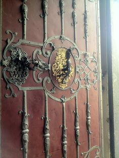 doors of the church of St. Nicholoas, Prague