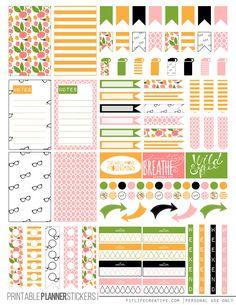 Free KateSpadeFloral (Planner Stickers) | fitlifecreative.com
