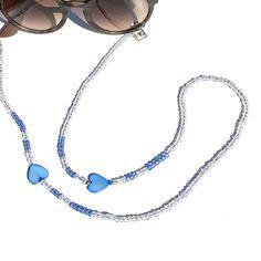 Brillenkoordje blauw love Hair Pins, Eyeglasses, Jade, Cord, Products, Accessories, Eyewear, Bobby Pins, Cable
