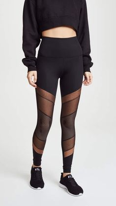 b43379c4bfd Beyond Yoga Soleil High Waisted Leggings Mesh Panel Leggings