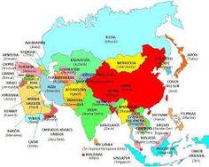 Resultado de imagen para mapa de asia pais-capital