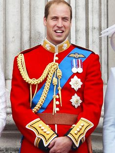PRINCE WILLIAM Prince William tends to wear the ceremonial uniform for the Irish Guards, where he has held the honorary title of colonel since February 2011. (You may remember him wearing this uniform at his 2011 wedding to Kate Middleton.) He accessorized with his Order of the Garter sash along with its star as well as two medals – the Queen's Golden Jubilee medal (left) and the Queen's Diamond Jubilee medal (right). These medals are awarded to military personnel serving during Queen…
