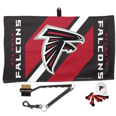Atlanta Falcons WinCraft Waffle Towel Golf Gift Set