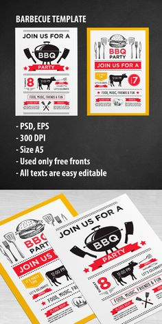 BarbecueBbq Flyer Template  Flyer Template Event Flyers And