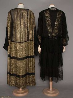 Gowns (image 3) | 1920s | silk, Chantilly lace | Augusta Auctions | April 20, 2016/Lot 257