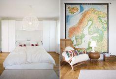 Large wall map as wall art
