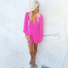 Hot Pink Romper. I really wished I looked good in rompers.