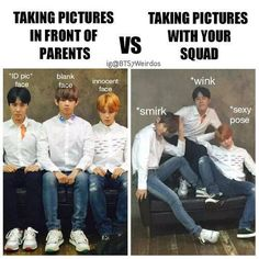 Picture taking at its finest ft. J-Hope, Jimin, and Taehyung. BTS