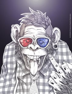 REBELMONKEY by Santiago Viteri Escobar, via Behance