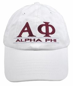 5d740036aaa Alpha Phi Line Hat SALE  18.95. - Greek Clothing and Merchandise - Greek  Gear®