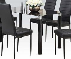 Acme 70020 Pacifica 7 Pieces Pedestal Dining Table Set Butterfly Leaf Furn Dining Room